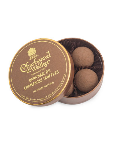 Charbonnel Et Walker Set of Four Dark Marc de Champagne Truffles-NO COLOUR-One Size