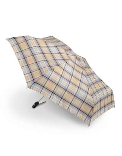 Fulton Compact Open and Close Plaid Umbrella-VINTAGE CHECK-One Size