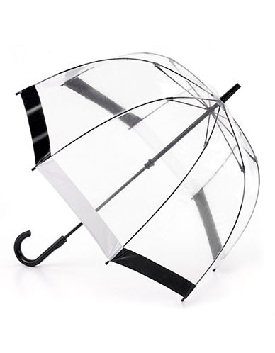 Fulton Birdcage Umbrella-BLACK/WHITE-One Size