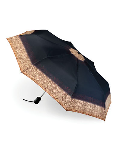 Fulton Open and Close Leopard Border Umbrella-LEOPARD-One Size