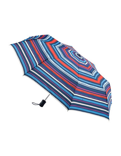 Fulton Violet Blooms Folding Umbrella-STRIPE-One Size
