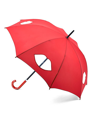 Lulu Guinness Kensington1 Cut Out Lips Umbrella-RED-One Size