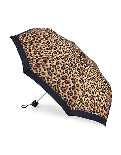Fulton Superslim Number 2 Lattice Umbrella-LEOPARD-One Size