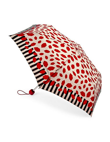 Lulu Guinness Stickers Superslim Umbrella-LIPS-One Size