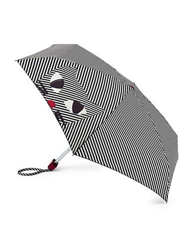 Lulu Guinness Stripy Kooky Cat Tiny Umbrella-CAT-One Size