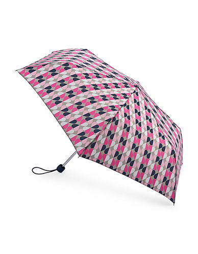 Fulton Floral-Printed Folding Umbrella-GEO HEART-One Size