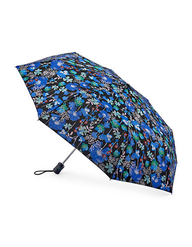 Fulton Violet Blooms Folding Umbrella-BLUE BASKET-One Size