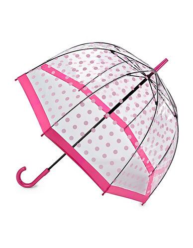 Fulton Clear Printed Walking Umbrella-PINK POLKA-One Size
