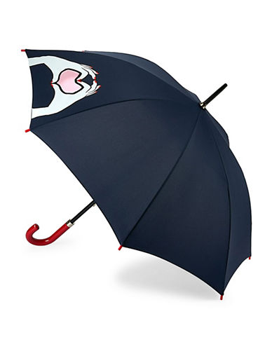 Lulu Guinness Kensington1 Cut Out Lips Umbrella-BLUE HEART-One Size