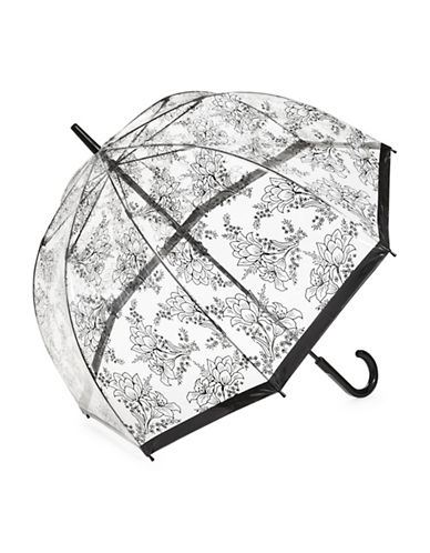 Fulton Clear Printed Walking Umbrella-FLORAL-One Size