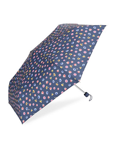 Fulton Floral-Printed Folding Umbrella-BLUE-One Size