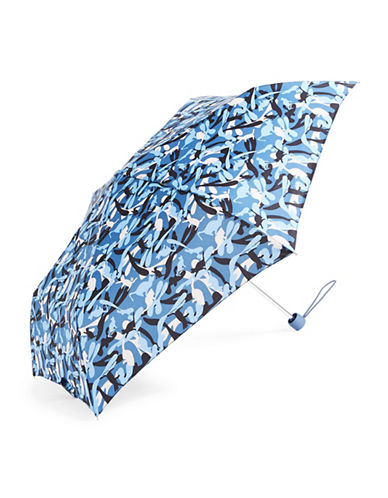 Fulton Floral-Printed Folding Umbrella-BLUE CAMO-One Size