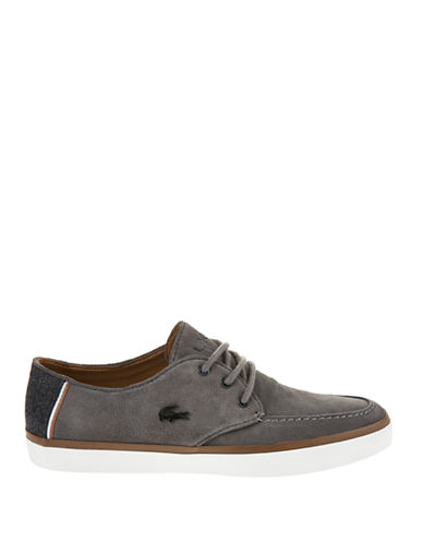 c928c9387a4096 ... Men s Sevrin 2 LCR Suede Deck Shoes - Grey - EAN 5021725189417 product  image for Lacoste Sevrin 2 LCR Boat Shoes-GREY-11