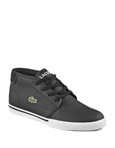 Lacoste Amptill Leather Sneakers-BLACK-9.5