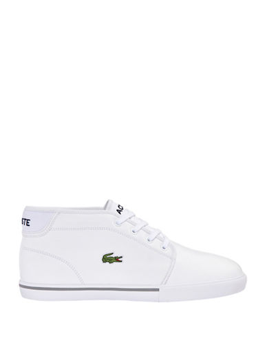Lacoste Ampthill Chukka High-top Sneakers-WHITE-10.5