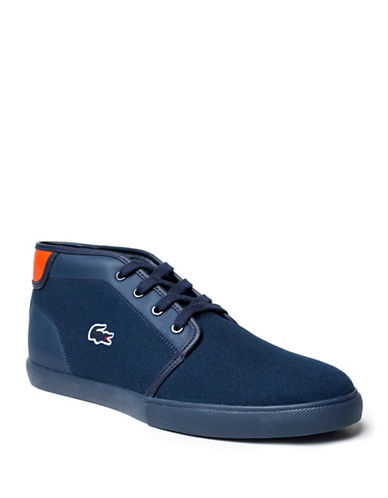 Lacoste Ampthill Canvas Sneakers-NAVY-8.5