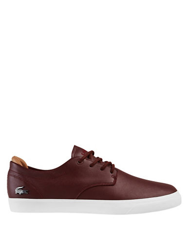 Lacoste Leather Sneakers-BROWN-9