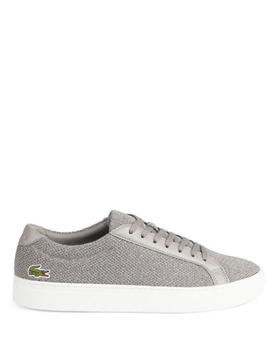 Lacoste Franchise Pique Low-Top Sneakers-GREY-9.5