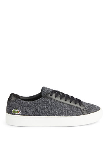 Lacoste Franchise Pique Low-Top Sneakers-BLACK-8.5