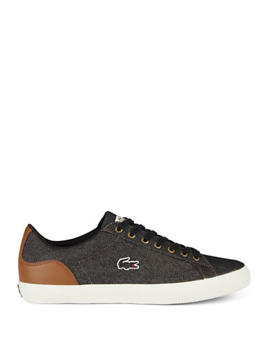 Lacoste Lerond Court Low Top Sneakers-BLACK-10.5