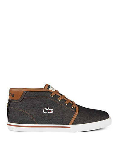 Lacoste Ampthill Leather Chukka Sneakers-BLACK-10.5
