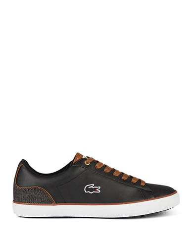 Lacoste Lerond Court Low Top Sneakers-BLACK-9.5