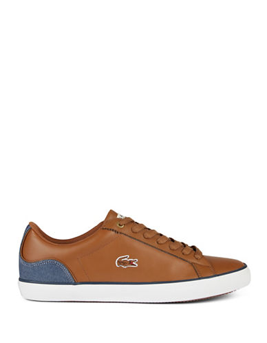 Lacoste Lerond Court Low Top Sneakers-BROWN-7