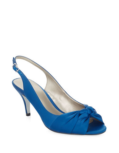 Jacques Vert Knotted Slingback Pump-DARK BLUE-9.5