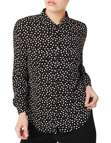 Precis Petite Ivy Polka Dot Blouse-BLACK-UK 8/US 6