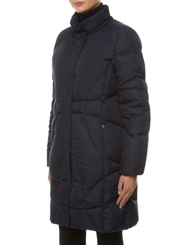 Windsmoor Padded Raincoat-NAVY-Small plus size,  plus size fashion plus size appare