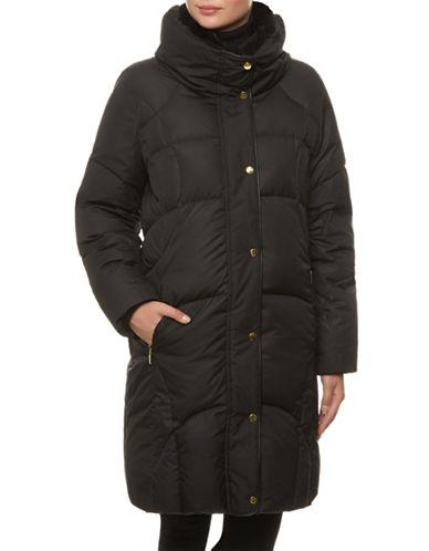 Windsmoor Leatherette Padded Raincoat-BLACK-Medium plus size,  plus size fashion plus size appare