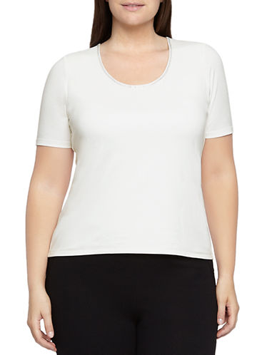 Windsmoor Embellished-Neck Jersey Top-WHITE-Small 87755645_WHITE_Small
