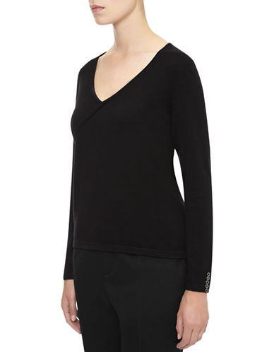Planet Crossover Knit Sweater-BLACK-Large