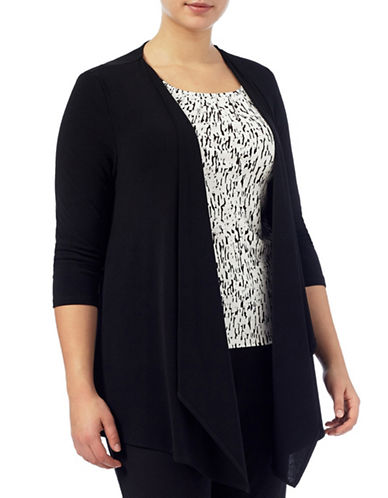 Windsmoor Jersey Waterfall Cardigan-BLACK-Small