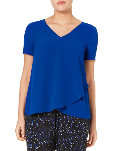 Windsmoor Jersey Criss Cross Top-BLUE-Small
