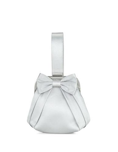 Jacques Vert Satin Pouch Mini Clutch Bag-GREY-One Size
