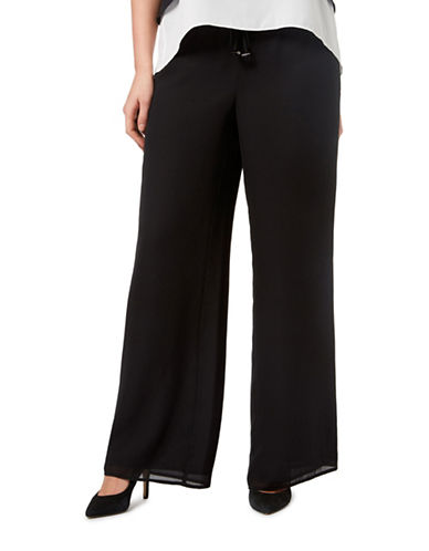 Windsmoor Solid Drawstring Pants-BLACK-Small 88306850_BLACK_Small