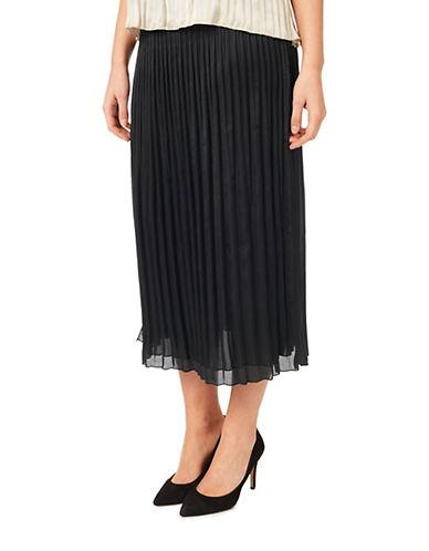 Windsmoor Crinkled Midi Skirt-BLACK-Large