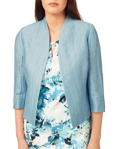 Windsmoor Light Crinkle Three-Quarter Sleeve Jacket-BLUE-UK 10/US 8