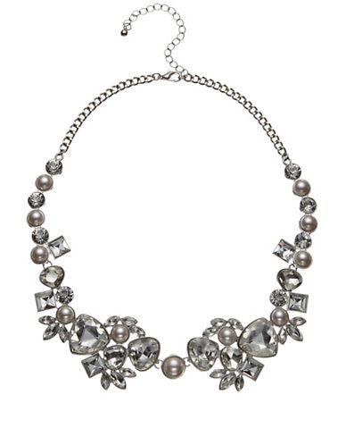 Jacques Vert Charlotte Faux Pearl Necklace-SILVER-One Size