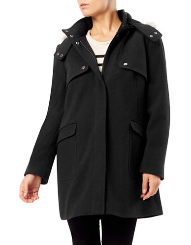 Precis Petite Zoe Mid Duffle Coat-BLACK-UK 14/US 10