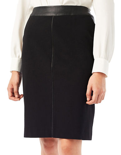 Precis Petite Jeff Banks Ponte Skirt-BLACK-UK 12/US 10