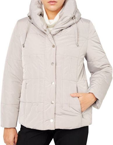 Jacques Vert Short Puffer Jacket-BROWN-Large 88743194_BROWN_Large