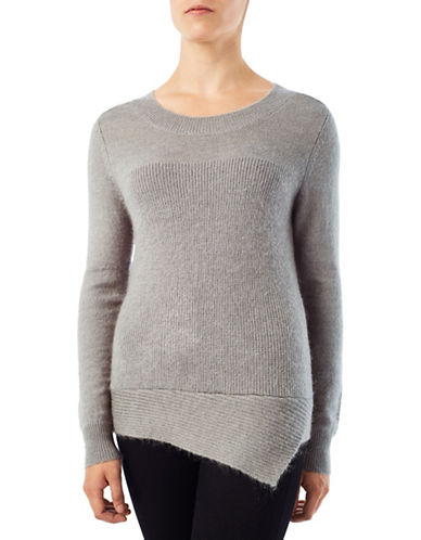 Precis Petite Jeff Banks Asymmetric Jumper-GREY-XX-Large