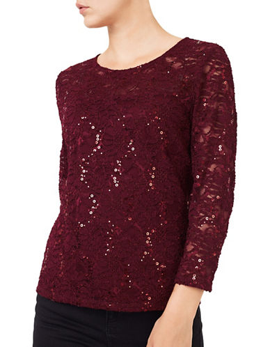 Precis Petite Victoria Cowl Sweater-RED-Large 88766661_RED_Large