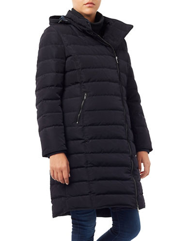 Windsmoor Asymmetric Hooded Maxi Coat-BLACK-UK 14/US 10