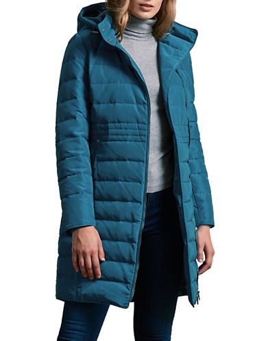 Windsmoor Asymmetric Hooded Down Coat-DARK GREEN-UK 8/US 4
