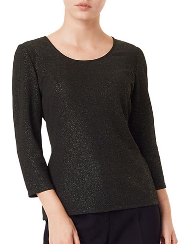 Precis Petite Bonnie Jersey Sparkle Top-BLACK-X-Small 88766772_BLACK_X-Small