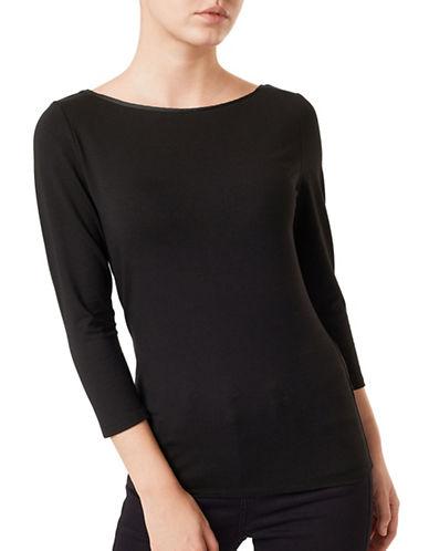 Precis Petite Giselle Jersey Top-BLACK-X-Small 88766887_BLACK_X-Small