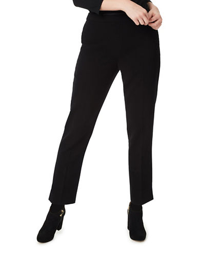 Precis Petite Anna Slim Leg Trousers-BLACK-UK 12/US 10
